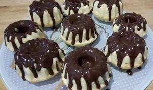 Les mini bundt cakes coco choco