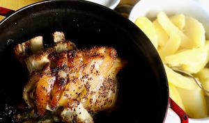 Le jarret de porc sauce aigrelette
