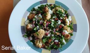 Salade de chou-fleur rôti persil et grenade