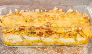 Lasagnes de ravioles au chou et navet