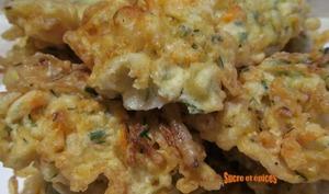 Beignets de crevettes aux pousses de soja