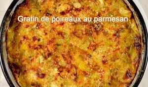 Gratin de poireaux au parmesan