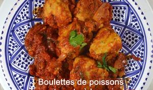 Boulettes de poisson, sauce tomate àla coriandre