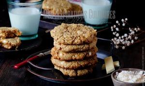 Cookies americains au chocolat blanc et noix de macadamia