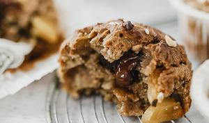 Muffins châtaigne et pommes caramélisées
