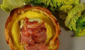 Tartelettes d'œufs au bacon