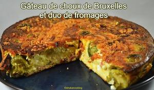Gâteau aux choux de Bruxelles et duo de fromages