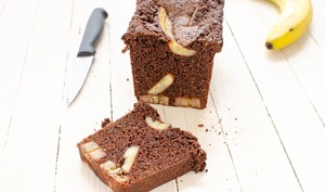 Cake chocolat et bananes caramélisées