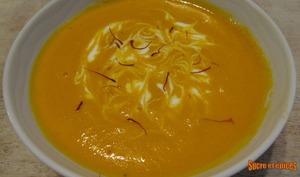 Velouté de carottes au safran