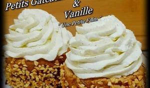 Petits gâteaux noisette, gianduja et vanille