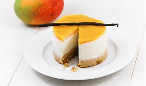 Cheesecake vanille mangue