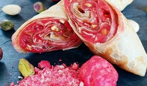 Crêpe à la crème de praline rose
