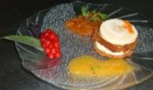 Mille-feuilles de foie gras et pain d'épices