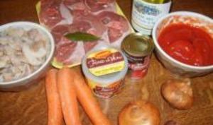 Osso Buco de Dinde à la Tomate et Champignons