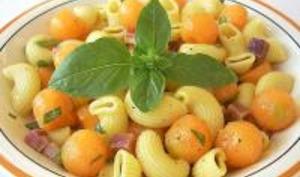 Salade de Pâtes au Melon, Parme et Basilic