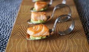 Dés de saumon mi-cuit
