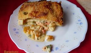 Lasagnes au saumon et poivrons