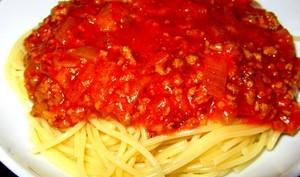 Spaghetti bolognaise au canard