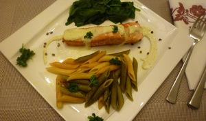 Darnes de saumon à la sauce moutardée et citronnée