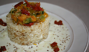 Riz croustillant aux légumes