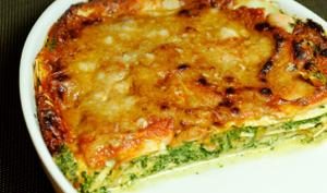 Lasagnes au saumon fumé et épinards