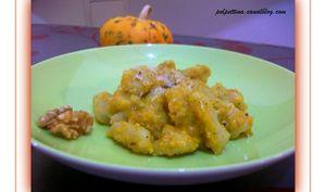 Gnocchi maison, crème de citrouille aux noix