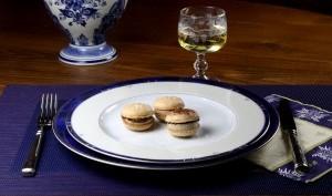 Macarons au foie gras et chocolat