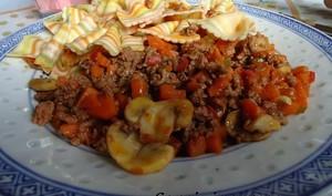 Sauté de boeuf haché aux légumes