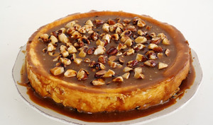 Cheesecake caramel et noix d'Amazonie