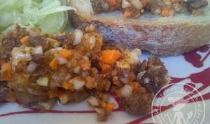 Salade ou chiquetaille de harengs saur antillaise