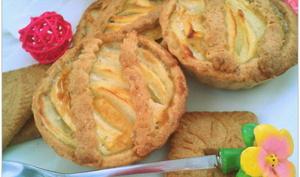 Tartelettes aux Pommes Crème Vanillée sur pâte brisé spéculoos