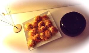Gambas croustillantes à la ricotta curry ou wasabi enroulées de Kadaïf