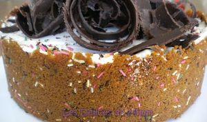 Cheesecake spéculoos, Amaretto et sa sauce au chocolat