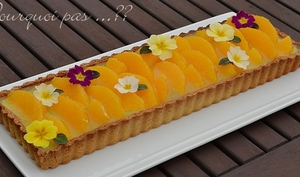 Tarte orange, vanille, concombre