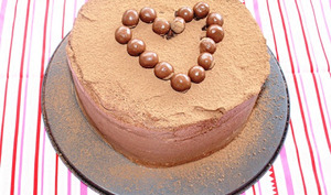 Layer cake chocolat passion