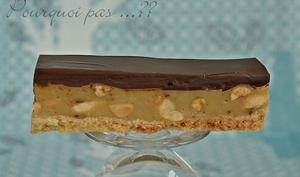 Barre chocolat / caramel aux cacahuètes salées