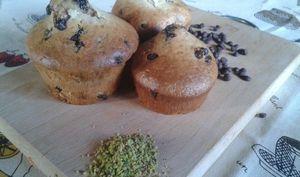 Muffins yaourt café-pistache-pépites de chocolat