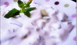 Salade libanaise concombre au yaourt facile