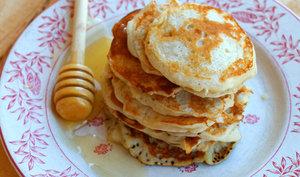 Pancakes sarrasin et mascarpone