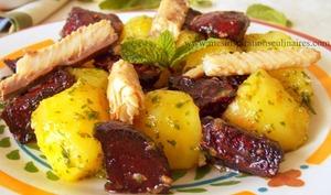 Salade de betterave rôties et pomme de terre