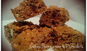 Cookies aux flocons d'avoine et 2 Chocolats
