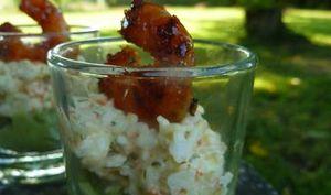 Verrines de crabe au guacamole