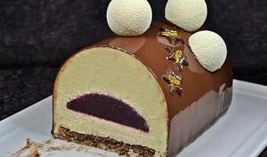 Buche fève Tonka Cassis Chocolat
