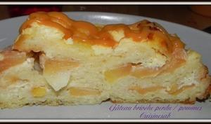 Gâteau brioche perdu pommes