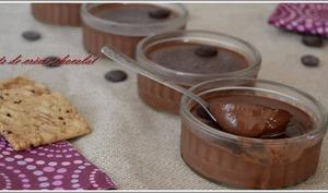 crèmes très chocolat sans oeuf ni farine mais à l'agar agar