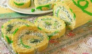 Roulé apéritif aux fromage et brocoli