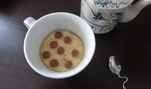 Mugcake vanille aux pépites de chocolat
