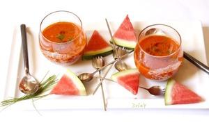 Gaspacho de pastèque au poivron