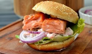 Burger nordique au saumon