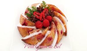 Gâteau polenta framboises